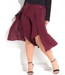 calça beline plus size pantalona pareô quintess