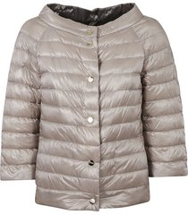 herno cropped round collar padded jacket