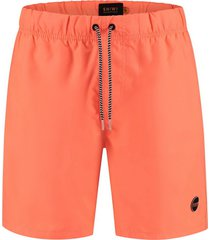 shiwi heren zwembroek solid mike recycled polyester neon orange