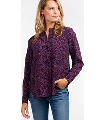 zijden blouse met luipaardprint