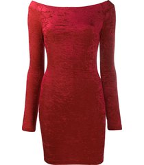 balenciaga cycling mini dress - red