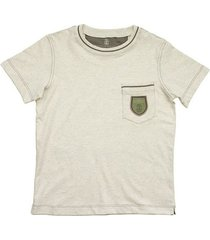 jersey t-shirt met borstzak en badge