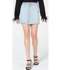 tinseltown juniors' button-front mini skirt