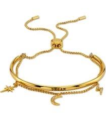 "unwritten ""dream"" cubic zirconia ajdustable bolo bracelet"