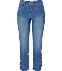 jeans elasticizzato con bottoni slim (blu) - john baner jeanswear