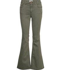 pzrita pant jeans utsvängda grön pulz jeans
