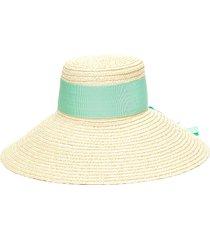 'mirabel' grosgrain band straw hat