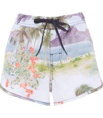 short feminino beach rj color - off white