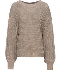 maglione traforato oversize (marrone) - bodyflirt