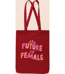women's the future is female tote in burgundy by francesca's - size: one size