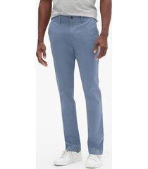 pantalon hombre slim stretch khaki azul gap gap