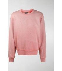 amiri distressed cotton sweatshirt