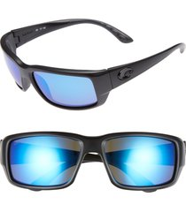costa del mar fantail 60mm polarized sunglasses in blackout/blue mirror at nordstrom