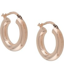 bottega veneta chunky hoop earrings - gold