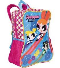 mochila grande com bolso meninas super poderosas 19m & mplus infantil sestini