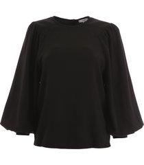 ganni crepe blouse