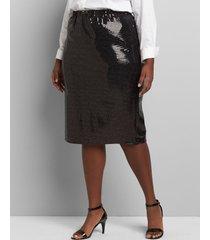 lane bryant women's sequin pencil skirt 18 black