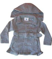 blusa casaco moletom flanelado grosso bebe infantil 1, 2 e 3 cinza