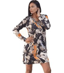vestido estampado geometrico multicolor alexandra cid