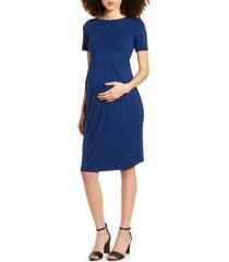 women's isabella oliver catherine maternity dress, size 00 - blue
