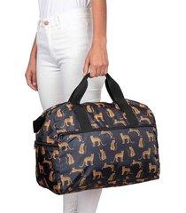 maleta m plegable estampado leopardos citybags multicolor