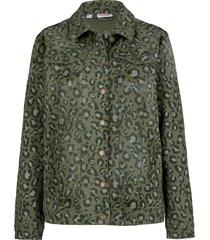 giacca di jeans elasticizzata fantasia (verde) - john baner jeanswear