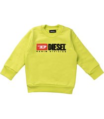 diesel round neck sweatshirt lime
