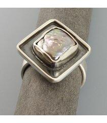 perła - pierścionek