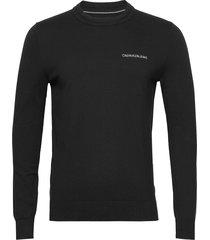 essential crew neck sweater gebreide trui met ronde kraag zwart calvin klein jeans