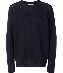 ami raglan sleeves crew neck sweater - blue