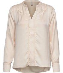 pzhattie blouse blus långärmad rosa pulz jeans