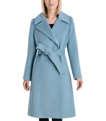 anne klein belted wrap coat, created for macy's