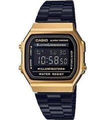 relógio casio vintage a168wegb-1bdf digital
