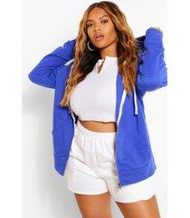 plus oversized hoodie, elektrisch blauw