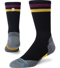 men's stance pace crew socks, size large - black