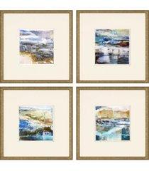 """paragon calm framed wall art set of 4, 21"""" x 21"""""""