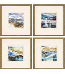 "paragon calm framed wall art set of 4, 21"" x 21"""