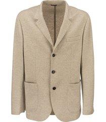 brunello cucinelli cashmere jersey blazer with patch pockets