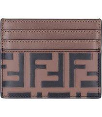 fendi leather card holder