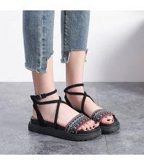sandalias coreanas con boca de pescado planas mujeres zapatos de color