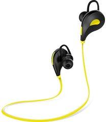 audífonos bluetooth, auricular audifonos bluetooth manos libres  auriculares inalámbricos para deportes auriculares in ear auriculares estéreo para micrófono con mic para smartphones (amarillo)