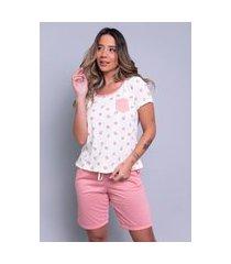 pijama bella fiore modas estampado com bolso hadassa coral