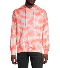 trunks surf + swim men's terry tie-dyed hoodie - orange - size l