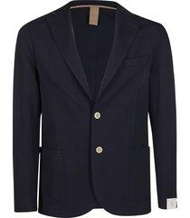 eleventy dark blue cotton blend blazer