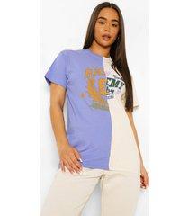 oversized gesplitst varsity t-shirt, lilac