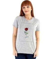 camiseta ouroboros flower feminino