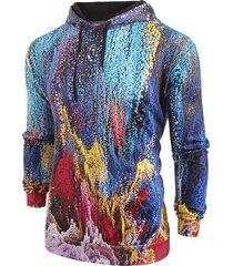 abstract pattern kangaroo pocket hoodie