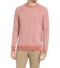 men's vince bird's eye stitch wool & cashmere sweater, size small - pink