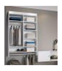 armário roupeiro infantil suspenso com nicho lilies móveis