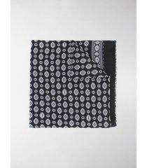 saint laurent bandana-print frayed scarf